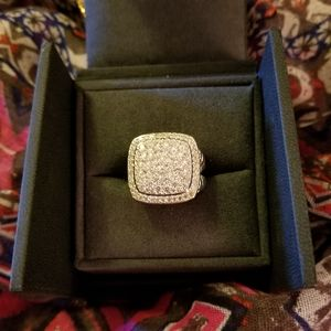STERLING & CZ SQUARE RING